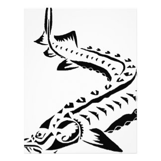 Papel Timbrado Esturjão tribal - beluga de Huso