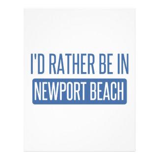 Papel Timbrado Eu preferencialmente estaria na praia de Newport