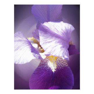 Papel Timbrado flor roxa da íris