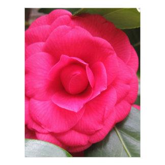 Papel Timbrado Flor vermelha do japonica Rachele Odero da camélia