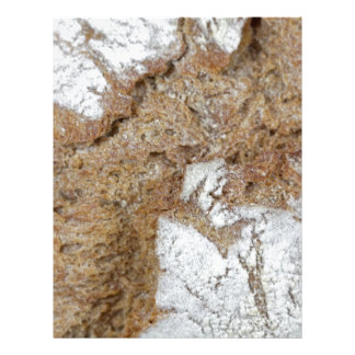 Papel Timbrado Foto macro da superfície do pão de mistura