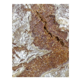 Papel Timbrado Foto macro da superfície do pão de mistura de Ger