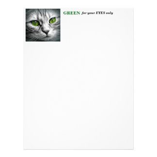 Papel Timbrado gato eyed verde