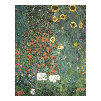 Papel Timbrado Gustavo Klimt - flores dos girassóis do jardim do