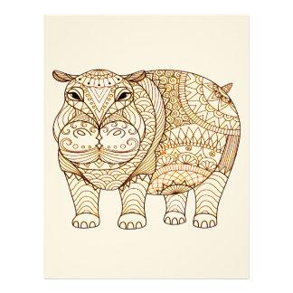 Papel Timbrado Hipopótamo