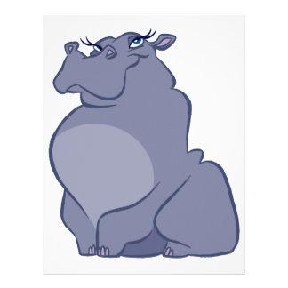 Papel Timbrado Hipopótamo para o Natal