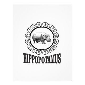 Papel Timbrado Hipopótamo quadro