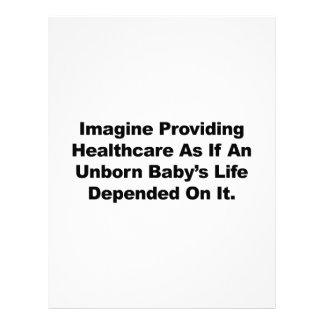 Papel Timbrado Imagine fornecer cuidados médicos para bebês por
