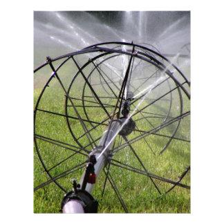 Papel Timbrado Linha da roda da irrigação