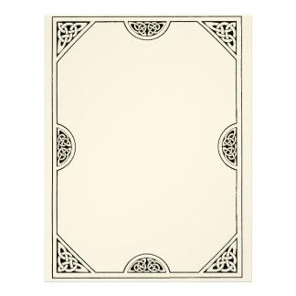 Papel Timbrado Livro vazio do céltico da página das sombras