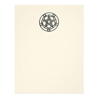 Papel Timbrado Livro vazio do Pentacle da página das sombras