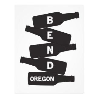 Papel Timbrado Logotipo da pilha da garrafa de cerveja de Oregon