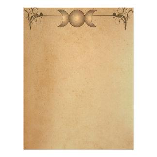 Papel Timbrado Lua tripla DE PAPEL cabeçalho Enchanted MANCHADO