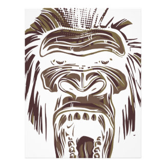 Papel Timbrado macaco feio do vintage