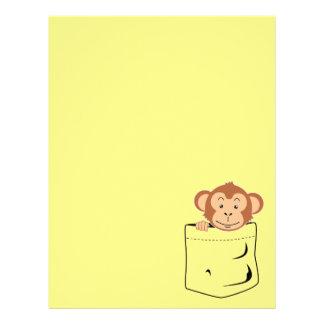 Papel Timbrado Macaco no bolso