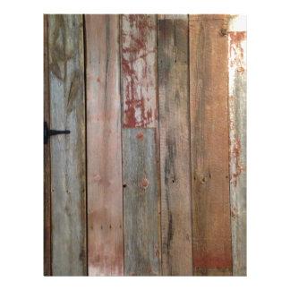 Papel Timbrado madeira primitiva do celeiro do país ocidental da