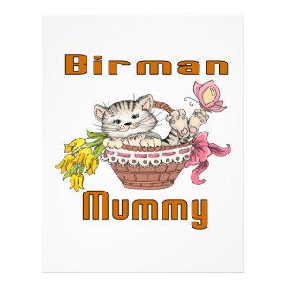 Papel Timbrado Mamã do gato de Birman