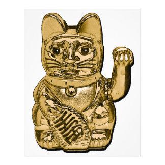 Papel Timbrado Maneki dourado Neko