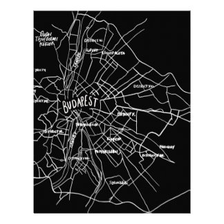 Papel Timbrado Mapa de Budapest Hungria