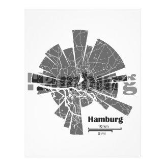 Papel Timbrado Mapa de Hamburgo