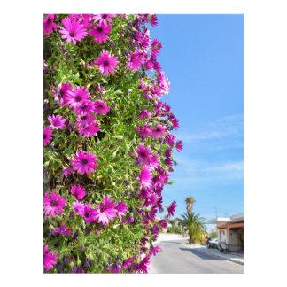 Papel Timbrado Margaridas espanholas cor-de-rosa de suspensão na