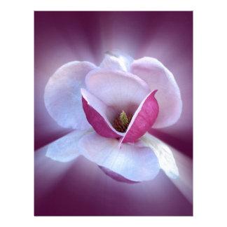 Papel Timbrado máscaras cor-de-rosa da magnólia