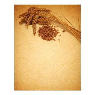 Papel Timbrado Milho do trigo do outono do vintage - artigos de