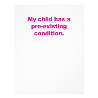 Papel Timbrado Minha criança tem uma circunstância pre-existente
