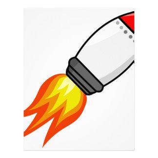 Papel Timbrado Míssil de Rocket