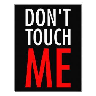 Papel Timbrado Não toque em me