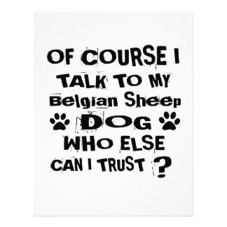 Papel Timbrado Naturalmente eu falo a meu design belga do cão do