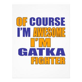 Papel Timbrado Naturalmente eu sou lutador de Gatka