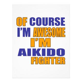 Papel Timbrado Naturalmente eu sou lutador do Aikido