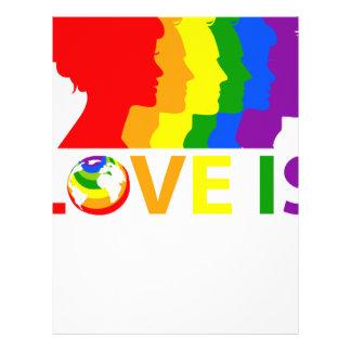 Papel Timbrado O amor é amor