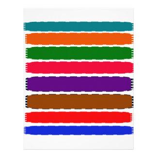 Papel Timbrado O arco-íris colorido elegante corta o teste padrão