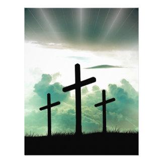 Papel Timbrado O deus transversal Jesus da fé do cristo nubla-se