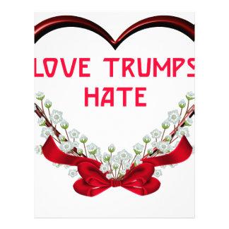 Papel Timbrado ódio dos trunfos do amor
