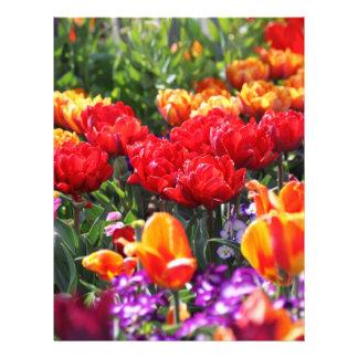 Papel Timbrado Ondas florais dos carmesins de Falln