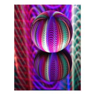 Papel Timbrado Ondas na bola de cristal