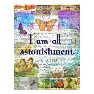 Papel Timbrado Orgulho de Jane Austen e citações do preconceito