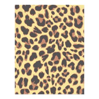 Papel Timbrado Padrões da pele animal do impressão do leopardo
