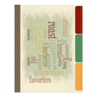 Papel Timbrado Páginas do divisor da receita para a pasta da