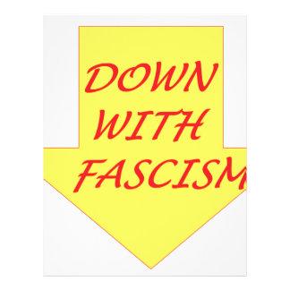 Papel Timbrado Para baixo com fascismo