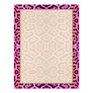 Papel Timbrado Pele de Jaguar no rosa e no roxo