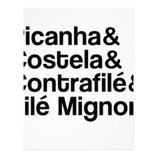 PAPEL TIMBRADO PICANHA, COSTELA, CONTRAFILÉ, MIGNON
