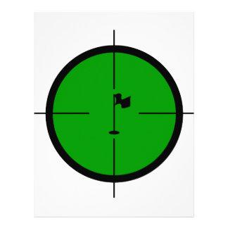 Papel Timbrado Pin do golfe nos Crosshairs