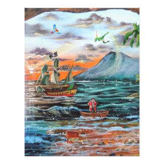 Papel Timbrado Pintura de Bell do funileiro da angra do gancho de