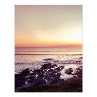 Papel Timbrado Por do sol da praia de Fistral