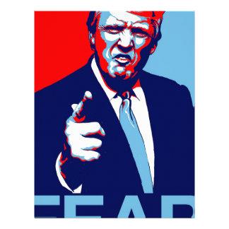 """Papel Timbrado Poster 2017 da paródia do """"medo"""" de Donald Trump"""