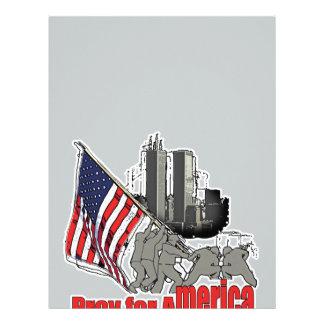 Papel Timbrado Pray para América